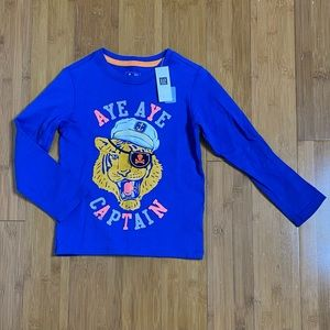 NWT BabyGap Aye Aye Captain long sleeve tee 5Y